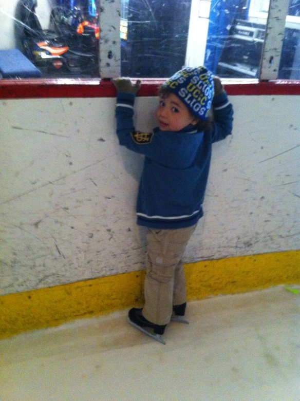 Matteo on ice