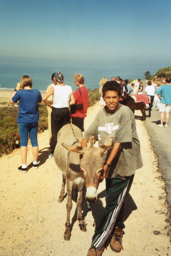 boy with donkey